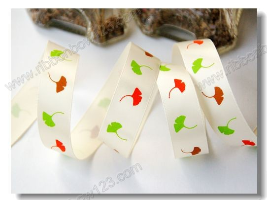 ginkgo leaf satin ribbon fish wholesale