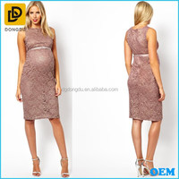 Pregnant women wear sleeveless sexy lace maternity evening dress