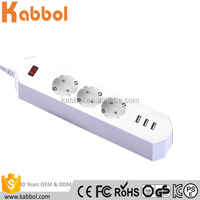 230W 3 Way 3 USB Ports Multi Electrical Power Strip Extension Socket Surge Protection for iPhone 7/7 Plus/6/6S/ 6 Plus/6s Plus