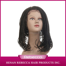 Henan Rebecca Synthetic African Braided Wig Front Lace Wig For Black Women