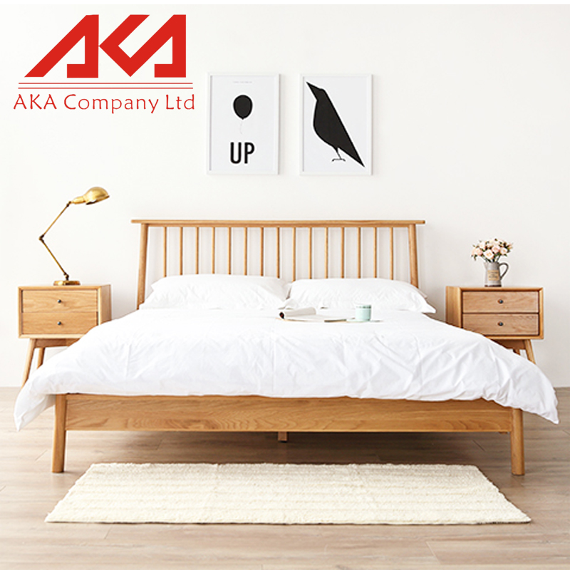 Reclaimed Real Wood Type Bedroom Furniture Solid Oak Bed Frame UK