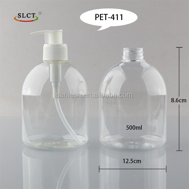 Classcial shape PET plastic Hotel 250~500ml Hand Wash Liquid Soap foam Pump Bottle 500ml