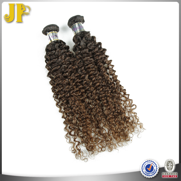 JP Hair Brazilian Beautiful Hot Natural Light Brown Curly Hair Extensions