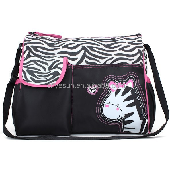 Alibaba China Wholesale Fashion Nylon Baby Diaper Bags With Animal Printing