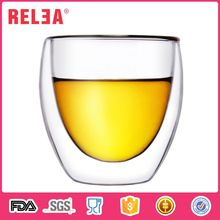 Colorful new durable 88ml double wall beer glass cup
