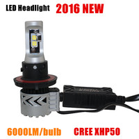 High Power G8 12V-24V 6000LM H7 H4 LED Headlight Bulb Kit With Cre e XHP50 For Car Accessories For Toyota, Honda, Audi