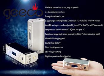 Tope Selling 2016 E-cig Vapor 60w Temp Control Mini Box Mod Mini ...