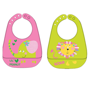 Wholesale High quality Colorful design waterproof silicone baby bibs