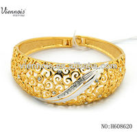 Bracelet 2015 gold color silver with stone bangle design for women