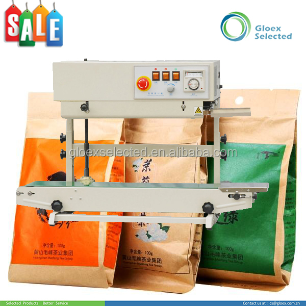 Plastic Stand-up Pouch band sealer with nitrogen gas filler