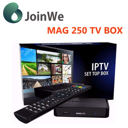2016 Promotional mag250 IPTV BOX Linux 2.6.23 Processor -STi7105 Secure Media update Firmware mag 250