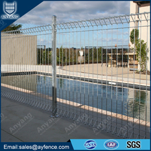 Galvanized Powder Coated Rolltop BRC Panel Fence for Swimming Pool