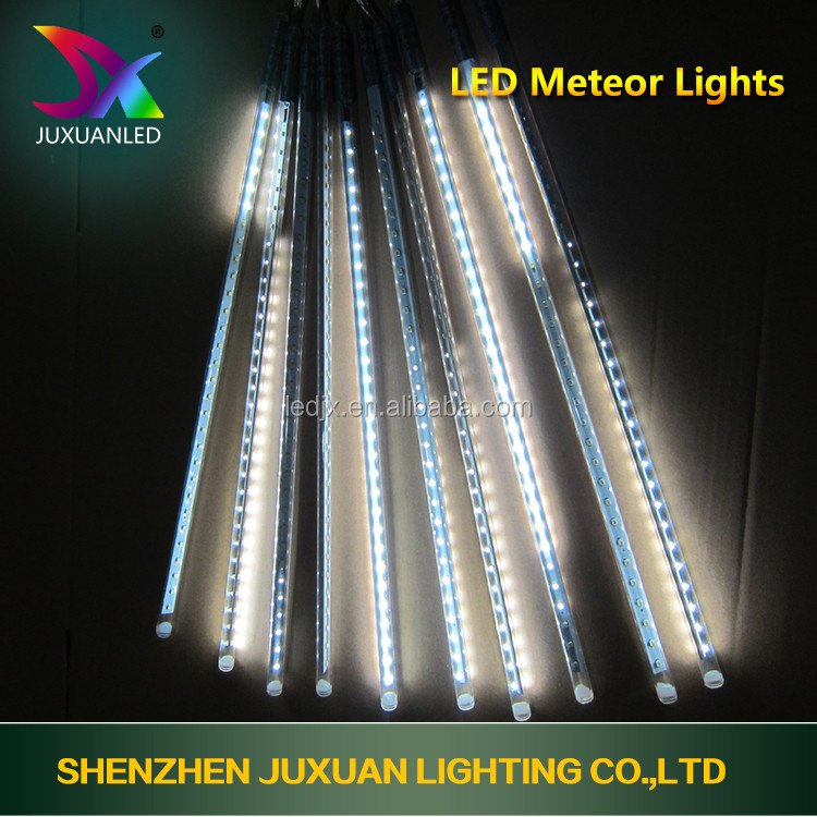 China wholesale Christmas tree decoration led holiday string light Meteor Shower Light Multicolour Falling Rain Drop