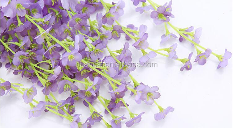 Cheap Artificial Wisteria silk flower for outdoor/indoor decoration flowers