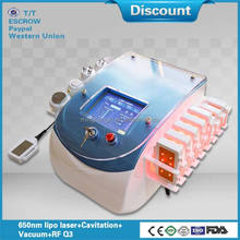Best effect 650nm Cavitation Vacuum RF fat diode laser slimming machine with CE