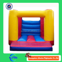 simple yellow inflatable indoor play castle bouncers jumpers for kids
