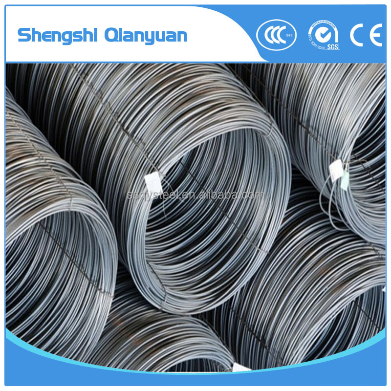 factory 0.7mm 3mm 7mm 10mm wholesale low carbon / galvanized steel wire rod
