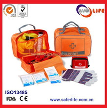 34pcs car emergency roadsize beach first aid tool kits bag outdoor driving emergency medical tools kits with nylon bag