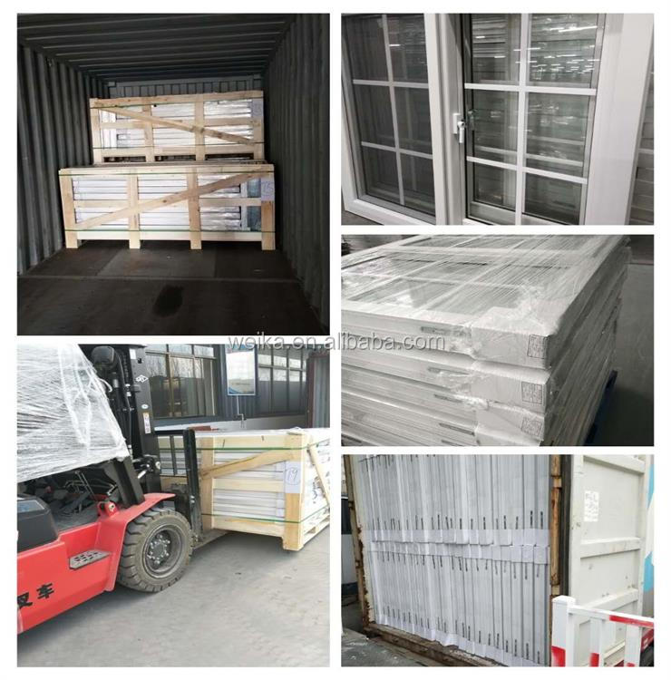 AS2047 Aluminium casement with double tempered glass windows