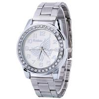 2017 new style butterfly wrist rhinestone lady China fashion diamond watch