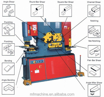Q35Y-16 hydraulic angle channel cutting ironworker punching and shearing machine with bending function
