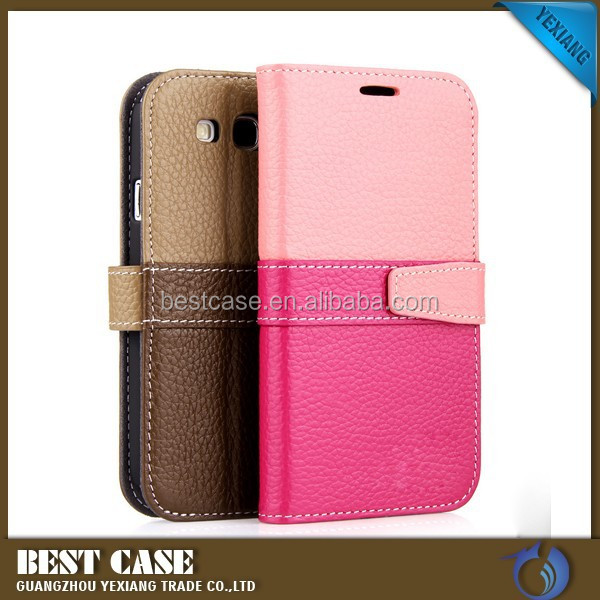 New arrival flip wallet case for samsung galaxy s3 i9300 back cover leather case