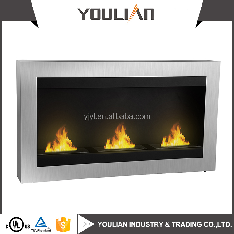 Hot sell wall mount bio ethanol insert fireproof material fireplace