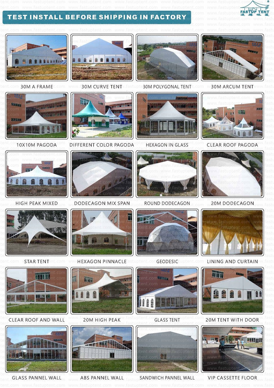 Outdoor Event Marquee Tent With Lining Drapes Air