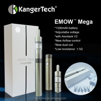 Hot new products for 2014 Kangertech battery 1600mah Kanger Emow Mega starter kit clearomizer cheap ecigarette