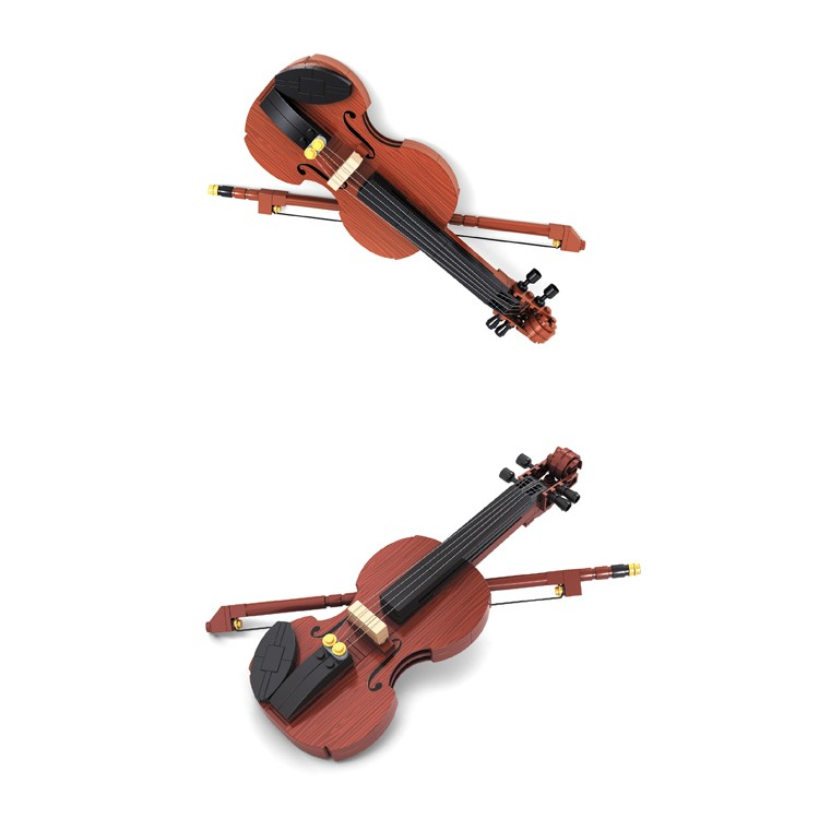 238 pcs musical instruments plastic violin building blocks toys for kids