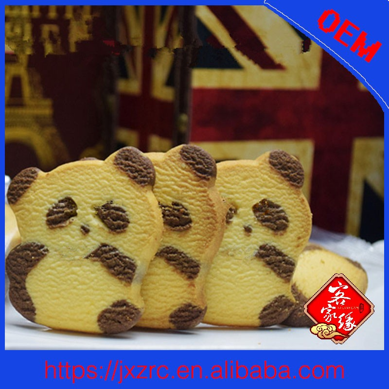 OEM chocolate and milk cute little bear biscuit 15g