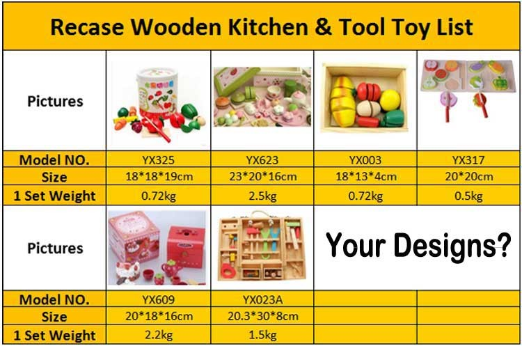 Small Wooden Kitchen Toy High Quality Kids Game Sets