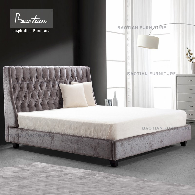 Bedroom furniture high back chesterfield fabric bed wall bed buy modern head board fabric wall Bedroom furniture chesterfield