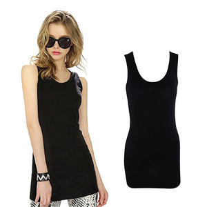 Womens Extra Long Stretch Cotton Tank Top