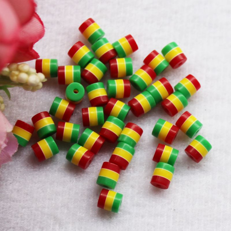 Three primary-color column resin beads with 1mm hole