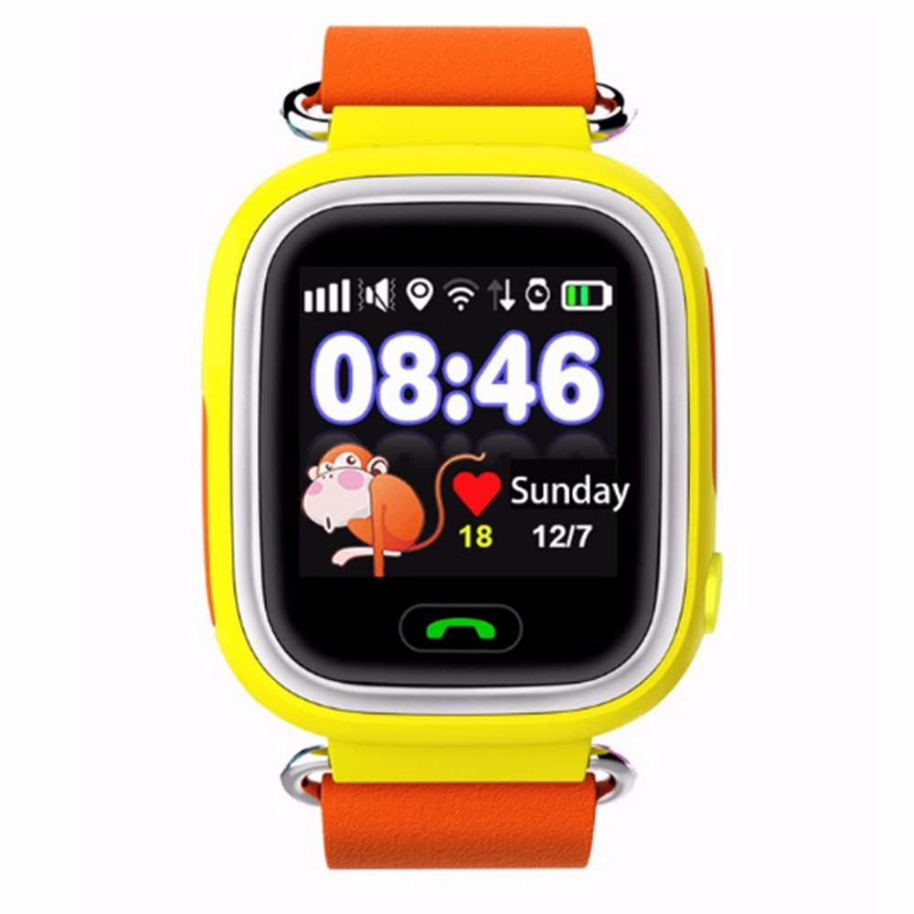 wrist GPS kids tracker watch mobile phone with rich function Q100