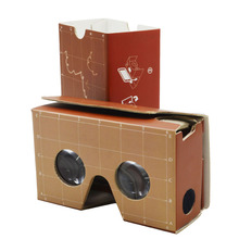 For promotion market Virtual reality with full color logo printing google cardboard vr 3d glasses