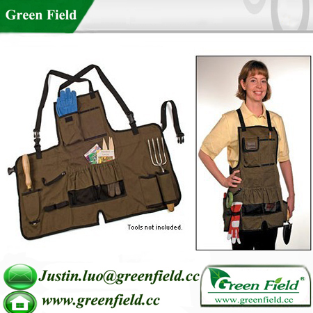 Green Field Gardening Apron with Tools Set