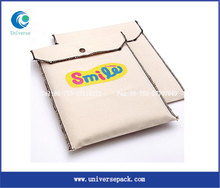 Envelope Bag Canvas Button Closure Whoelsale Bags With Screen Printing