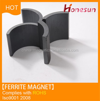 Permanent ferrite arc magnet for motor China supplier