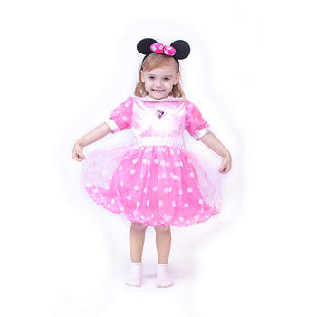 Factory price carnival party costume minnie fancy dress children costumes for girl