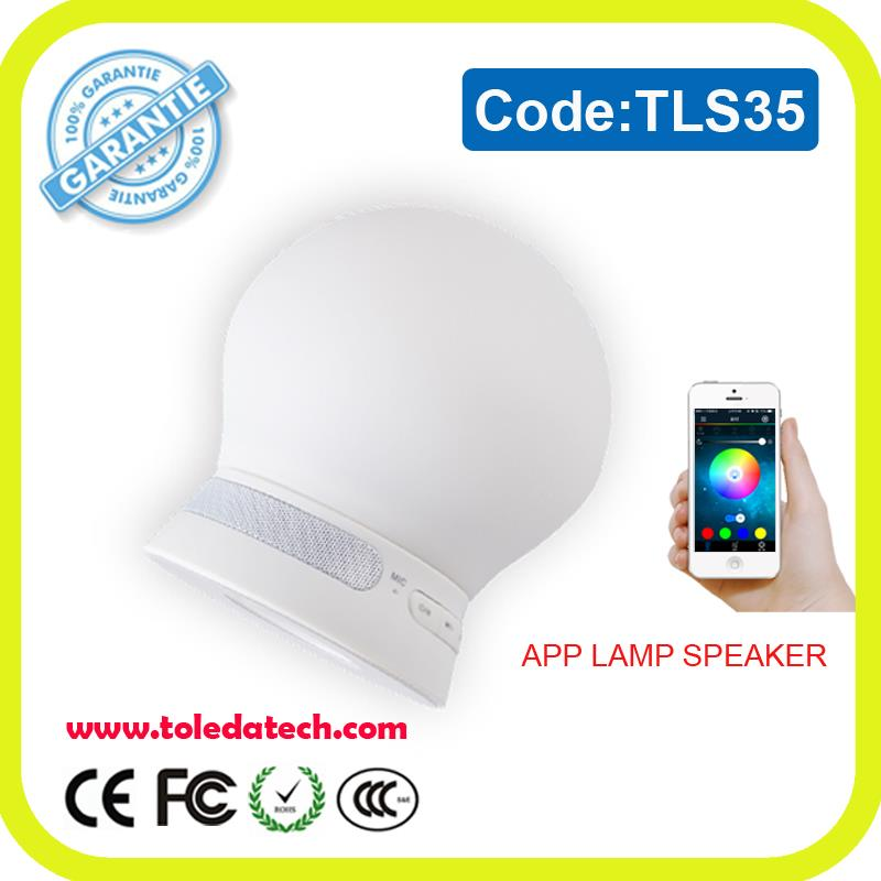 new 2017 Wireless bluetooth speaker with led light smart app control lamp speaker box