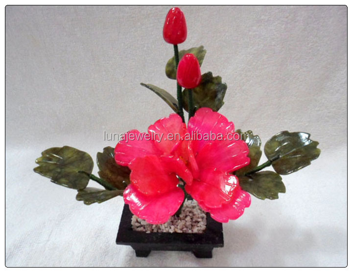 Jade Rose color Peony 1 Flowers ,fengshui jade money tree