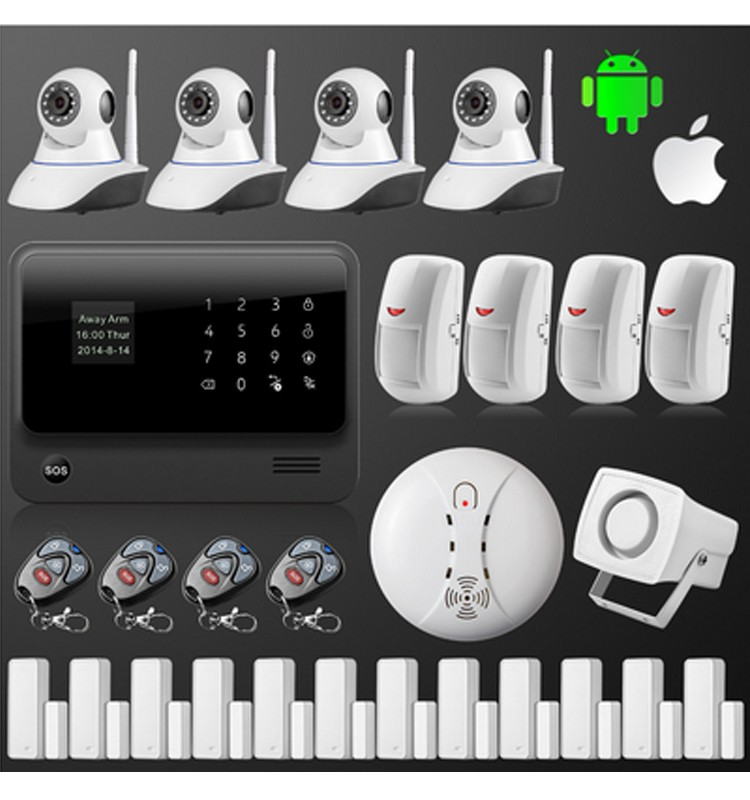 2017 new design wireless gsm alarm system smart home security products