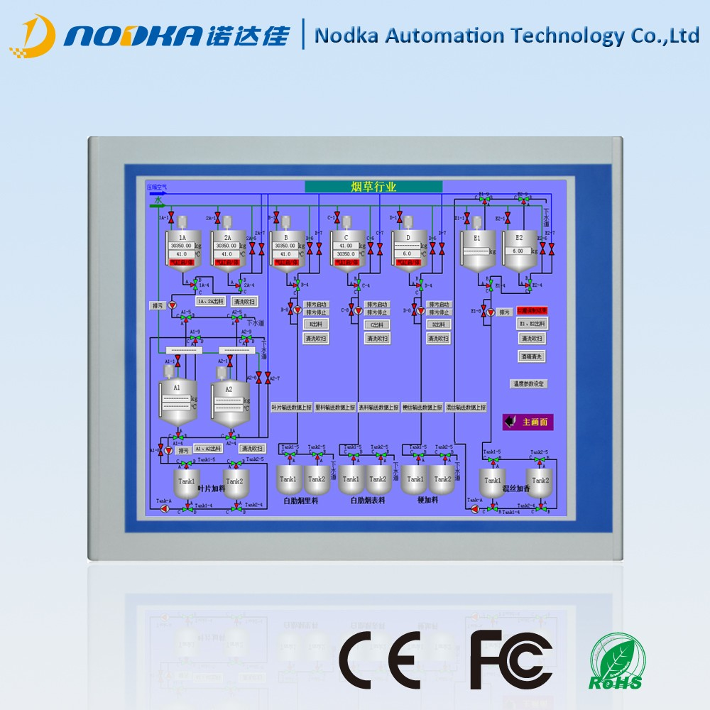 15 inch 2 lan panel pc, industrial panel pc for smart house and automation industry