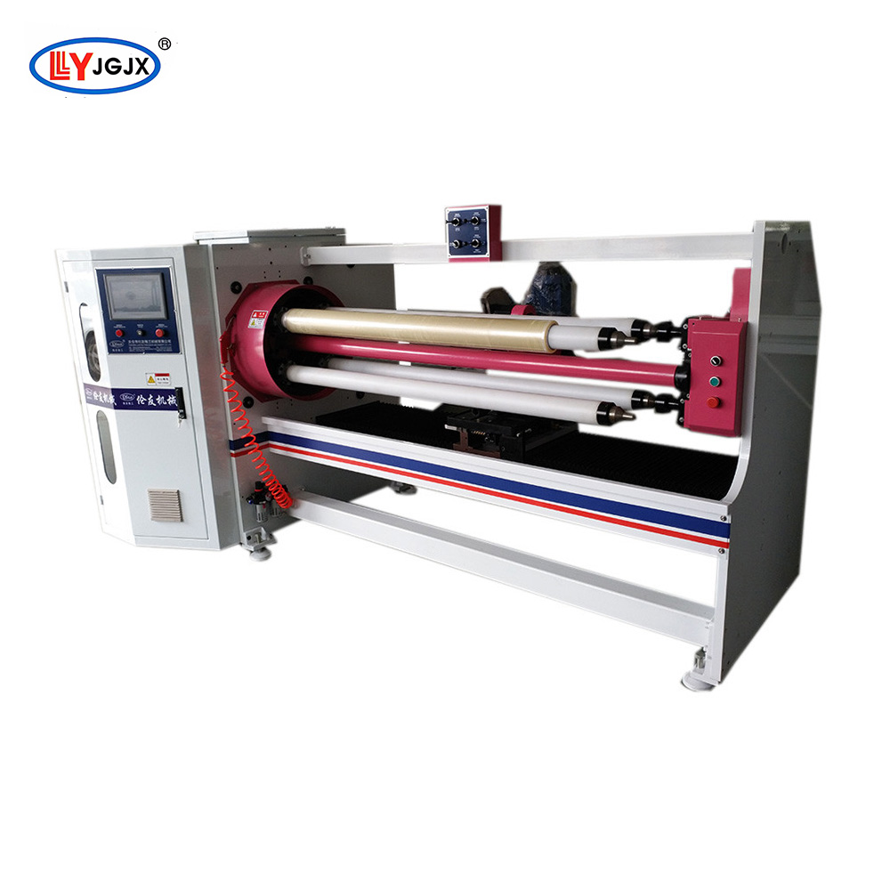 LY-709 PVC electrical insulating adhesive tape slitting machine/aluminum foil roll tape cutter/BOPP gum tape cutting machine