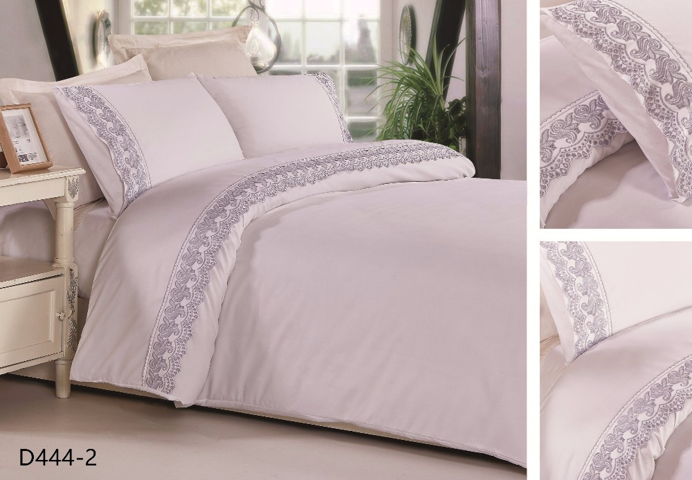 4pieces wholesale twin size T/C embroidered life comfort sheet set hotel used bedding set