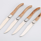 High quality laguiole steak knife with S.S430 casting forged & color wood handle