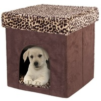 Solid Square Handmade Folding Pet House