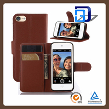 for iPod Touch 6 case, Credit Card Wallet Stand Litchi leather case flip cover for iPod Touch 6 china suppliers